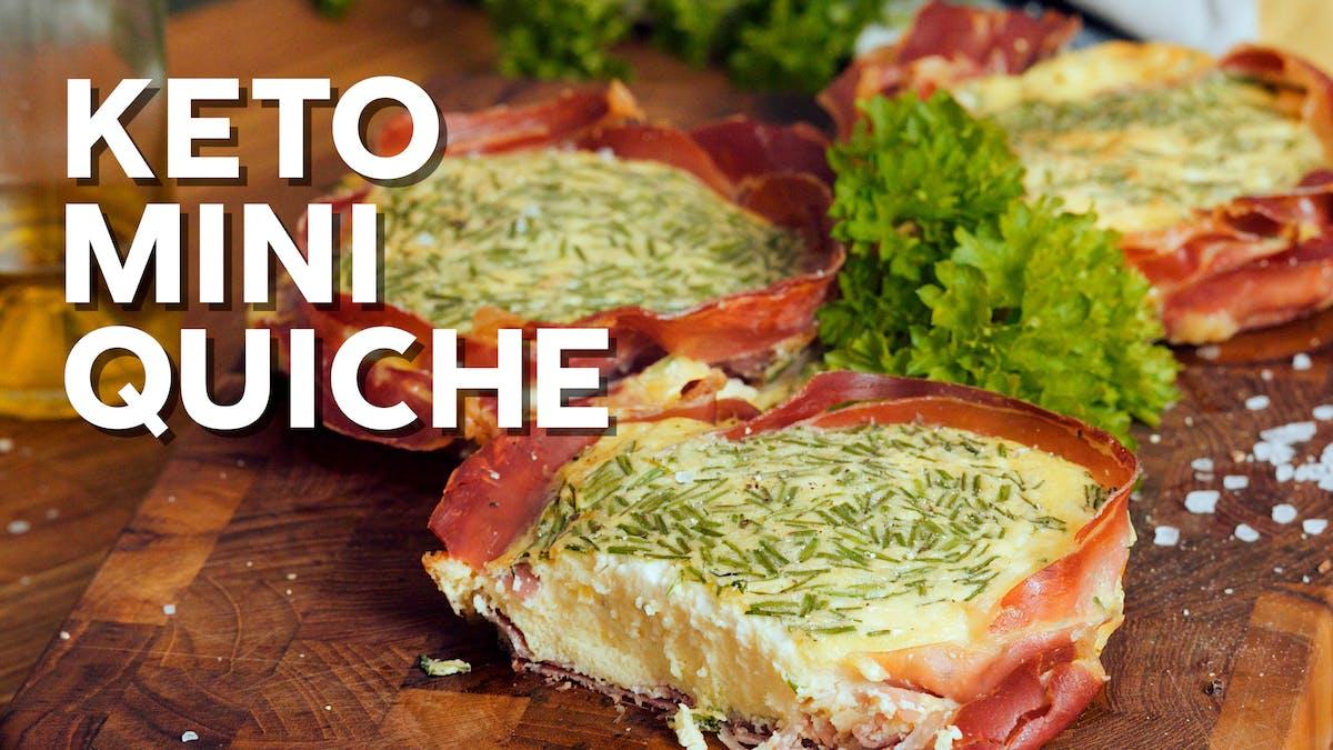 Keto mini quiche with ham