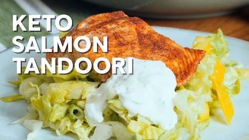 Keto salmon tandoori