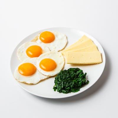 Male veggie breakfast