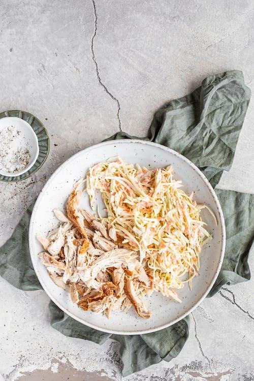 Keto rotisseri chicken with ranch coleslaw