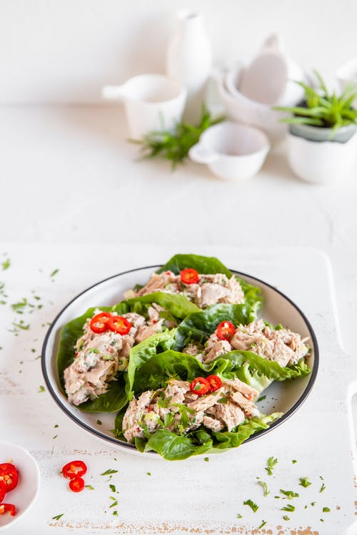 Thai keto tuna salad wrap