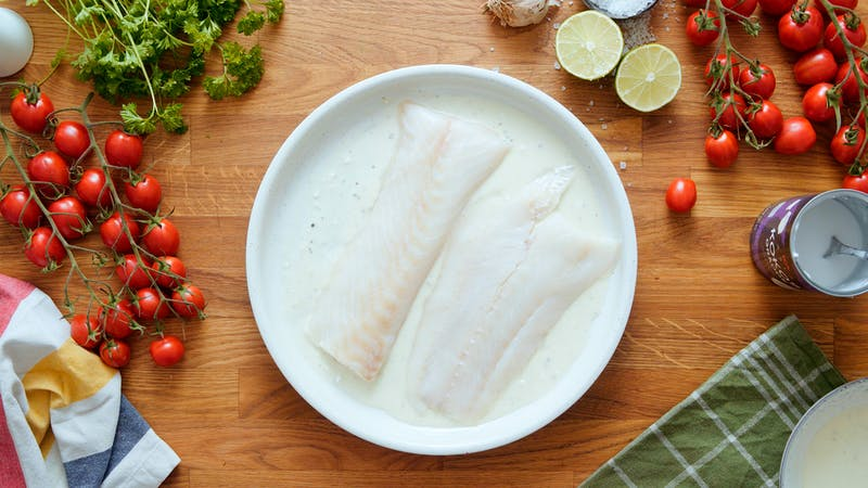 White fish with herbs