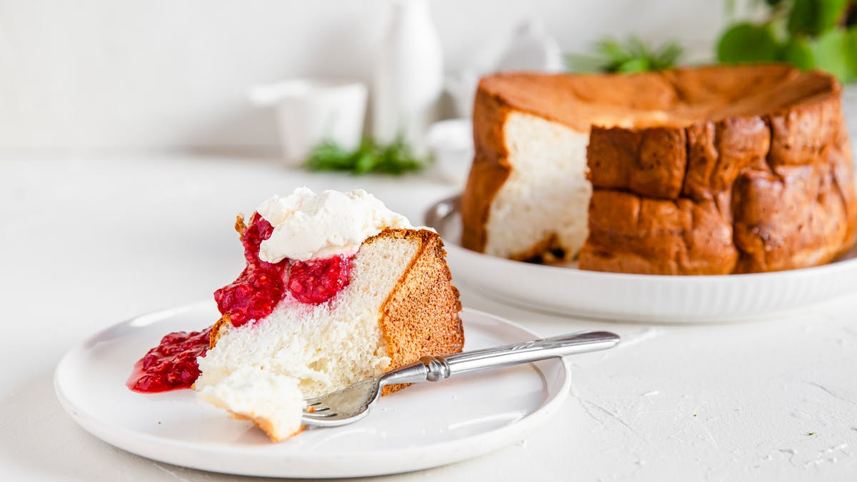 High protein low-carb angel food cake
