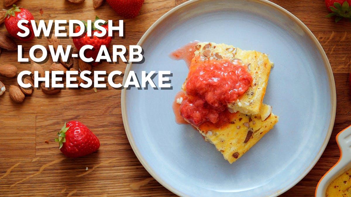 Swedish low-carb cheesecake