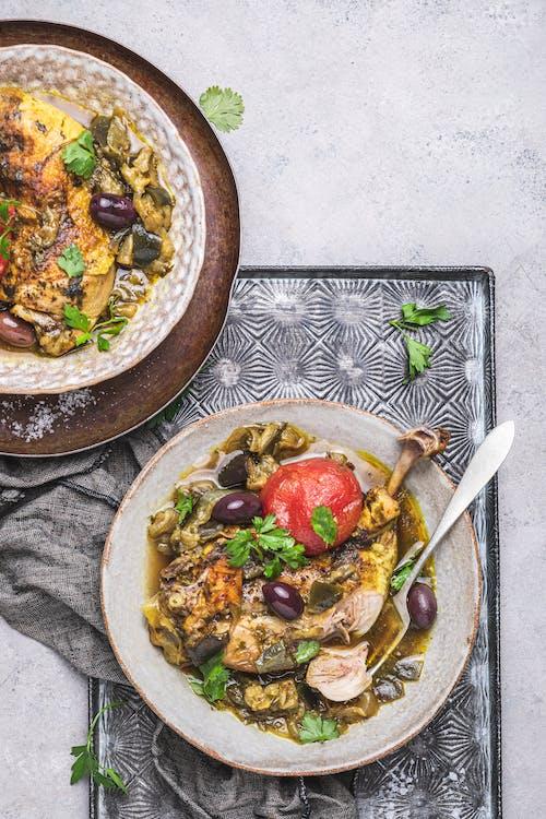 Chicken and eggplant tajine