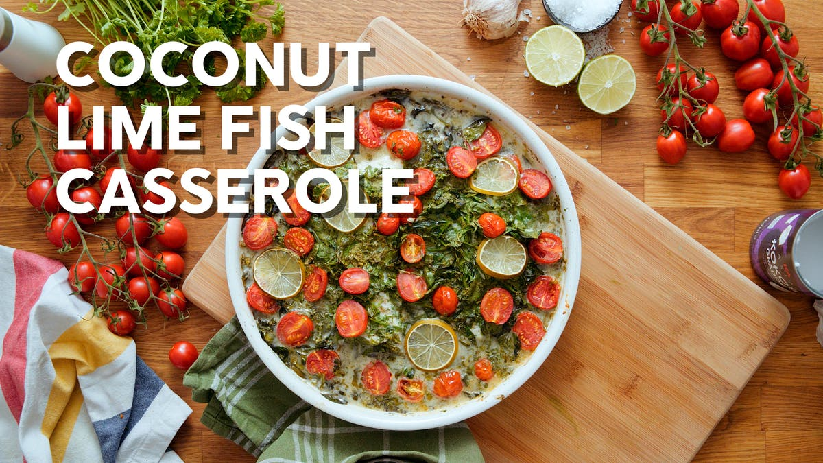 Cooking video: Coconut lime fish casserole