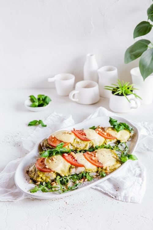 Baked keto fish Caprese