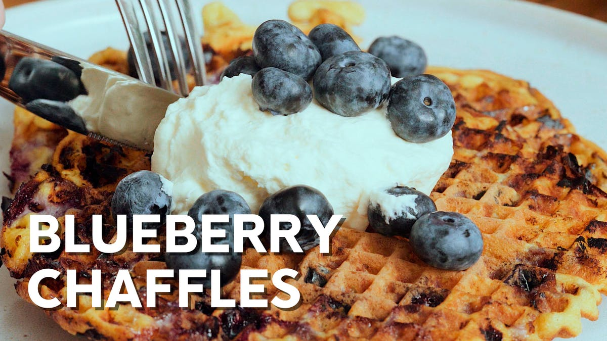 Cooking video: Blueberry chaffles