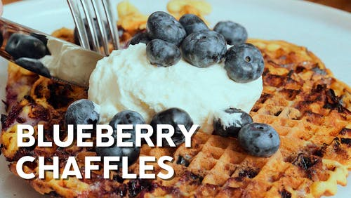 Blueberry chaffles