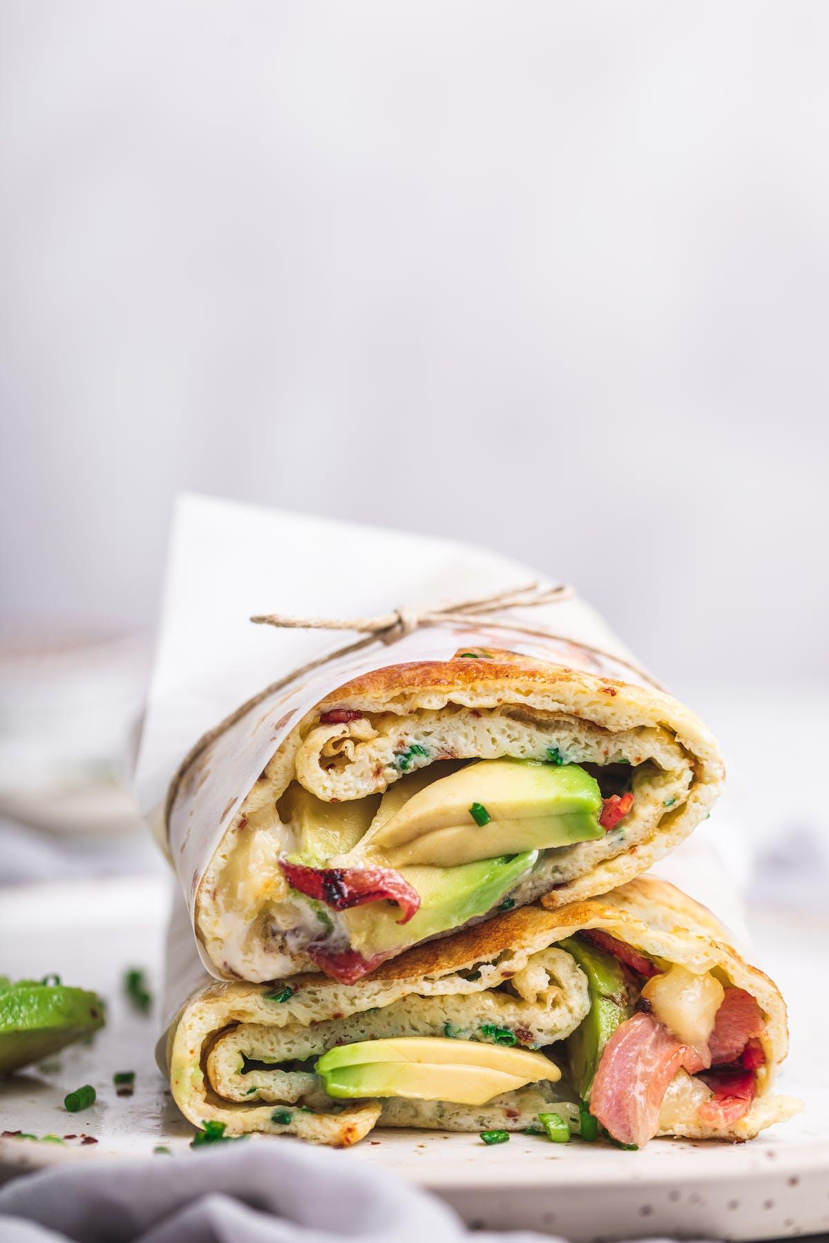 Loaded keto breakfast wrap