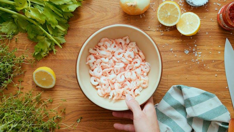 Spicy 7-minute shrimp salad