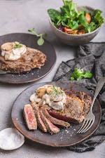 Steak with keto mushroom sauce